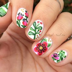 Floral Nails #ruthsnailart #nailart
