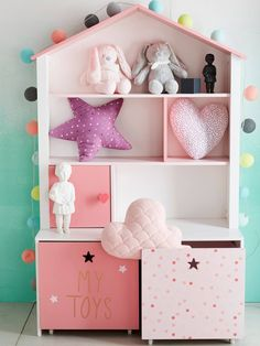 Vertbaudet house bookcase in pinks Kids Playroom Rugs, Kids Playroom Storage, Playroom Table, Kids Playroom Furniture, Playroom Wall Decor, Baby Furniture, Baby Room Decor, Playroom Quotes, Montessori Playroom