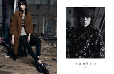 Edie Campbell Lives the Artists Life for Sandro Fall 2014 Campaign