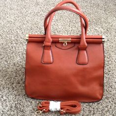 Leather Shoulder/ Hand Bag  Synthetic Leather. Great condition with never used shoulder strap. Inquiries and offers are welcome  Bags Satchels