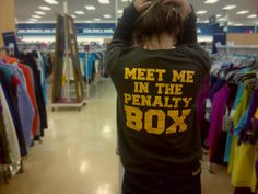 """Meet me in the penalty box"" t-shirt"