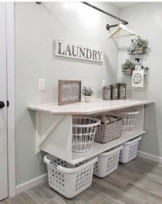 farmhouse laundry room is usually the most messiest room at your home. Admit it, farmhouse laundry room is usually the most messiest room at your home. 86 Brilliant Laundry Room Ideas for Small Spaces Decor, Room Makeover, Room Design, Room Organization, Dream Laundry Room, Home Decor, Room Remodeling, Laundy Room, Laundry Room Drying Rack