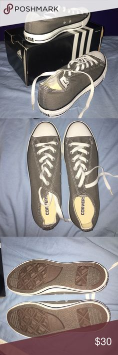 Charcoal gray converse Charcoal gray converse, in perfect condition BC they were never worn Converse Shoes