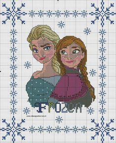 Schemi frozen - idee a punto croce elsa anna, bead loom patterns, cross stitch Cross Stitch Pillow, Cross Stitch Charts, Cross Stitch Designs, Cross Stitch Patterns, Loom Patterns, Frozen Cross Stitch, Cross Stitch For Kids, Cross Stitching, Cross Stitch Embroidery