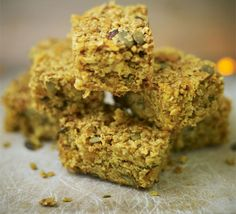 Rudolph's carrot flapjacks. These moist oaty slices are packed full of fruits, seeds and spices - a great bake to make with the kids.