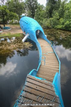 The Blue Whale of Catoosa is a waterfront structure, located just east of the town of Catoosa, Oklahoma, and it has become one of the most recognizable attractions on old Route 66.