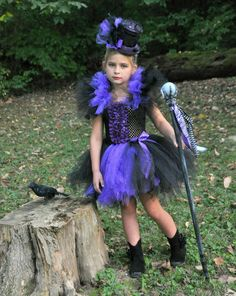Maleficent Inspired Tutu Dress....costume by TheBerryNiceBoutique