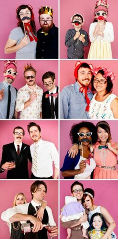 Elsie and Jeremy Larsons wedding photo booth