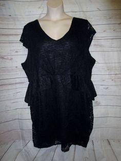 97b0c32d92e Torrid 5 5x Dress Peplum Stretch Wiggle Sexy Lace Cocktail Plus Size Read  listng  Torrid