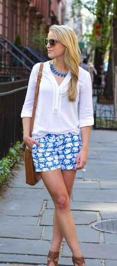 Lilly Pulitzer Callahan Short in Tusk in Sun worn by @styledsnapshots