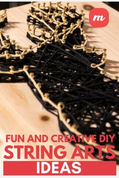 Look no further for a fun DIY project. In this piece, we show forty-five creative ideas for string art. Creative DIY String Art ideas that you see here run from beginner to advanced. Many use templates, which makes the placement of nails easy. Others are complicated and require a bit more than a beginner's outlook. In there you should find projects that are perfect for kids and pieces you'd be proud to hang on your wall. #stringart #easyDIYcrafts #stringartpatterns #easyDIYcrafts #homedecorideas Easy Diy Crafts, Diy Home Crafts, Fun Diy, String Art Patterns, Cool Diy Projects, Creative Ideas, Art Ideas, Art Pieces, Templates