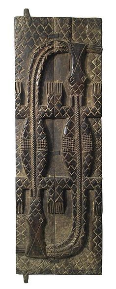 Africa | Carved wooden Baule door, Ivory Coast  | © Tim Hamill