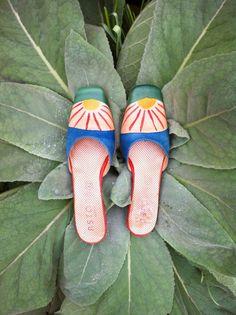 Vintage Astore Venezia hand painted leather shoe by Amorinshop