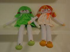 Nallu Artes: Bonecas Pernudas em tecido