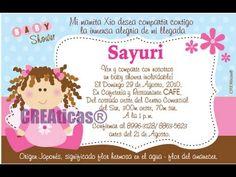 Invitaciones De Baby Shower Con Mensajes # Como Hacer Invitaciones De B..