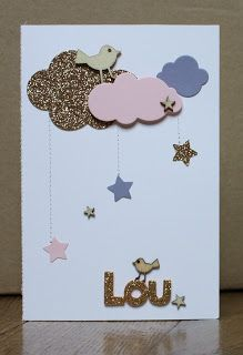 What the scrap ?: Une petite carte pour Lou carte de naissance – Agea Happiness What the scrap ?: Une petite carte pour Lou carte de naissance What the scrap ? Scrapbook Bebe, Scrapbook Cards, Scrapbooking Layouts, Kids Cards, Baby Cards, Diy And Crafts, Paper Crafts, Small Cards, Diy For Kids