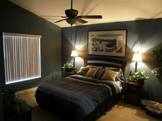 Superb Masculine Grey Decor Ideas For Men Bedroom Interior Design With Fabulous Table Lamps - Use J/K to navigate to previous and next images