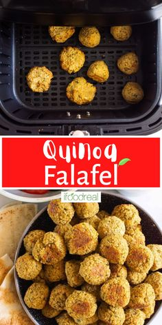 This Quinoa Falafel recipe is gluten-free, naturally vegan, and most importantly, makes the best falafels with chickpeas and quinoa that are wonderfully crisp on the outside with a tender, moist middle that is packed with flavor and protein. Make these as baked or air fryer falafels, cooked to perfection, then serve immediately or store/freeze for later! Healthy Family Meals, Healthy Breakfast Recipes, Clean Eating Recipes, Healthy Snacks, Snack Recipes, One Pot Meals, Easy Meals, Real Food Recipes, Chicken Recipes
