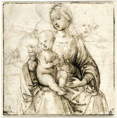 gorgeous pen and ink drawing by Raphael
