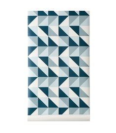 papier peint gomtrique - Papier Peint Bleu Geometrique