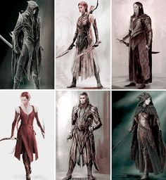THE HOBBIT CONCEPT ART Elves of Mirkwood