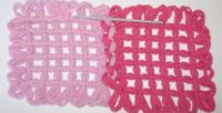 The Butterfly loom: joining motifs (several different variations) Knitting Looms, Spool Knitting, Loom Blanket, Blanket Stitch, String Crafts, Yarn Crafts, Crochet Stitches For Blankets, Loom Craft, Yarn Inspiration