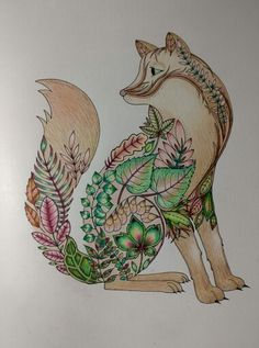 Fox From Enchanted Forest By Johanna Basford