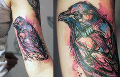 Colorful crow by Yanina Vilanda