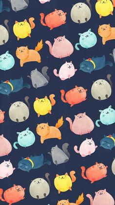 Wallpaper iphone cartoon cat New ideas Cat Pattern Wallpaper, Tier Wallpaper, Cute Cat Wallpaper, Planets Wallpaper, Kawaii Wallpaper, Pastel Wallpaper, Cute Wallpaper Backgrounds, Animal Wallpaper, Galaxy Wallpaper Iphone