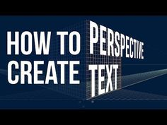 How to Create Perspective Text in Illustrator - YouTube