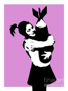 Bomb Girl Duvet Cover for Sale by Lexi Lux Banksy Paintings, Banksy Art, Canvas Art, Canvas Prints, Art Prints, Girls Duvet Covers, Fashion Artwork, Luxury Duvet Covers, Pillow Sale