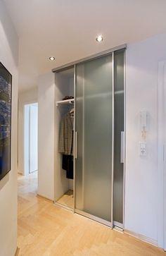 Sliding Door Aluminum Frame Wardrobe Niche Satinato Gl … – # Sliding Aluminum Frame - All About Balcony Flur Design, Loft Design, House Design, Tv Wall Design, Ceiling Design, Outdoor Kitchen Cabinets, Room Divider Doors, Barn Door Designs, Bedroom Wardrobe