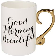 Lisa T Good Morning Mug Target Australia ($8.51) ❤ liked on Polyvore featuring home, kitchen & dining, drinkware, cups, mugs, accessories and food and drink