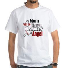 Angel 1 MOM Lung Cancer Shirt on CafePress.com