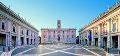 Happy Birthday Michelangelo: the great Piazza del Campidoglio in Rome, designed by his superb mind.