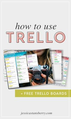 HOW TO USE TRELLO  Essentially, Trello is broken down into boards, lists, and cards.Trello is a great way to organize your business and personal life to make sure youre being as productive as possible! #trello #productivity #productivitytips #productive #organizing #organization