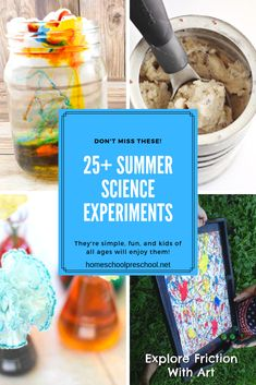 Sneak in some learning over the next few months with some summer science experiments! There are enough ideas here to try something new every day! #summerscience #preschoolscience #scienceforkids #homeschoolprek Science Projects For Preschoolers, Preschool Science Activities, Summer Activities For Kids, Summer Science, Science For Kids, Science Fun, Dry Ice Experiments, Learning, Creative Teaching