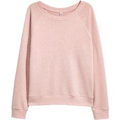 Sweatshirt $12.99 (750 RUB) ❤ liked on Polyvore featuring tops, hoodies, sweatshirts, h&m sweatshirt, pink long sleeve top, pink sweatshirts, pink top and long sleeve tops