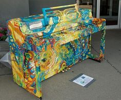 Cool piano painted by Vassily Kandinsky. Wow. Must learn to paint and then must do this.