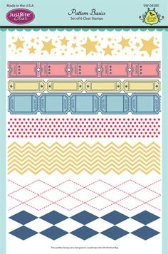 Justrite PaperCraft | Pattern Basics, scrapbooking and craft ideas with  stamps,  | Clear stamps |