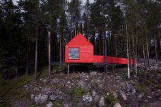 Treehotel in the forests of Swedish Lapland. designed by Stockholm-based architects SandellSandberg