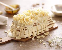 Tarta de galletas y chocolate blanco