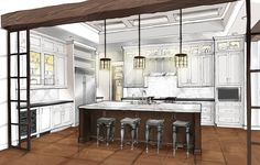 design sketch - Kitchen Helpings: Blog for Kitchen Professionals.