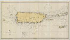 Puerto Rico (Porto Rico) Historical Map - 1931