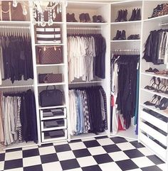 Shelving for the walk in wardrobe