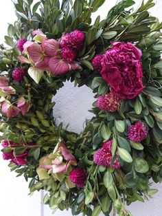 Dried Wreath  Dried Boxwood Wreath   Peony Wreath  Dried Hydrangeas   Home Decor  Floral Wreath  Christmas Gift  Mothers Day GIft by donnahubbard on Etsy