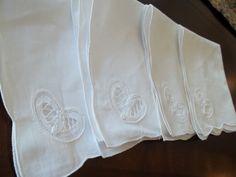 Napkins Cotton Supply Napkins 4 pc White Lace by SuzyQsVintageShop, $7.25