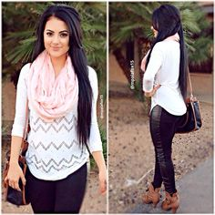 #ootd | Leggings & Scarf: Charlotte Russe | Top: Fashion Q | Bag & Shoes: Rue 21 |