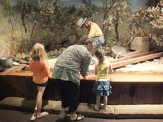 Panning for gold at the Gold Country Museum in Auburn, Calif..
