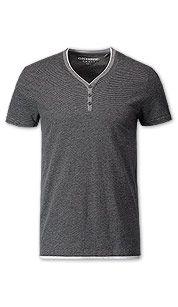 T-shirt met knopen in zwart / grijs